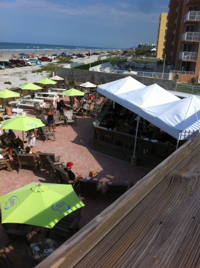enjoy free live music on our balcony in New Smyrna Beach