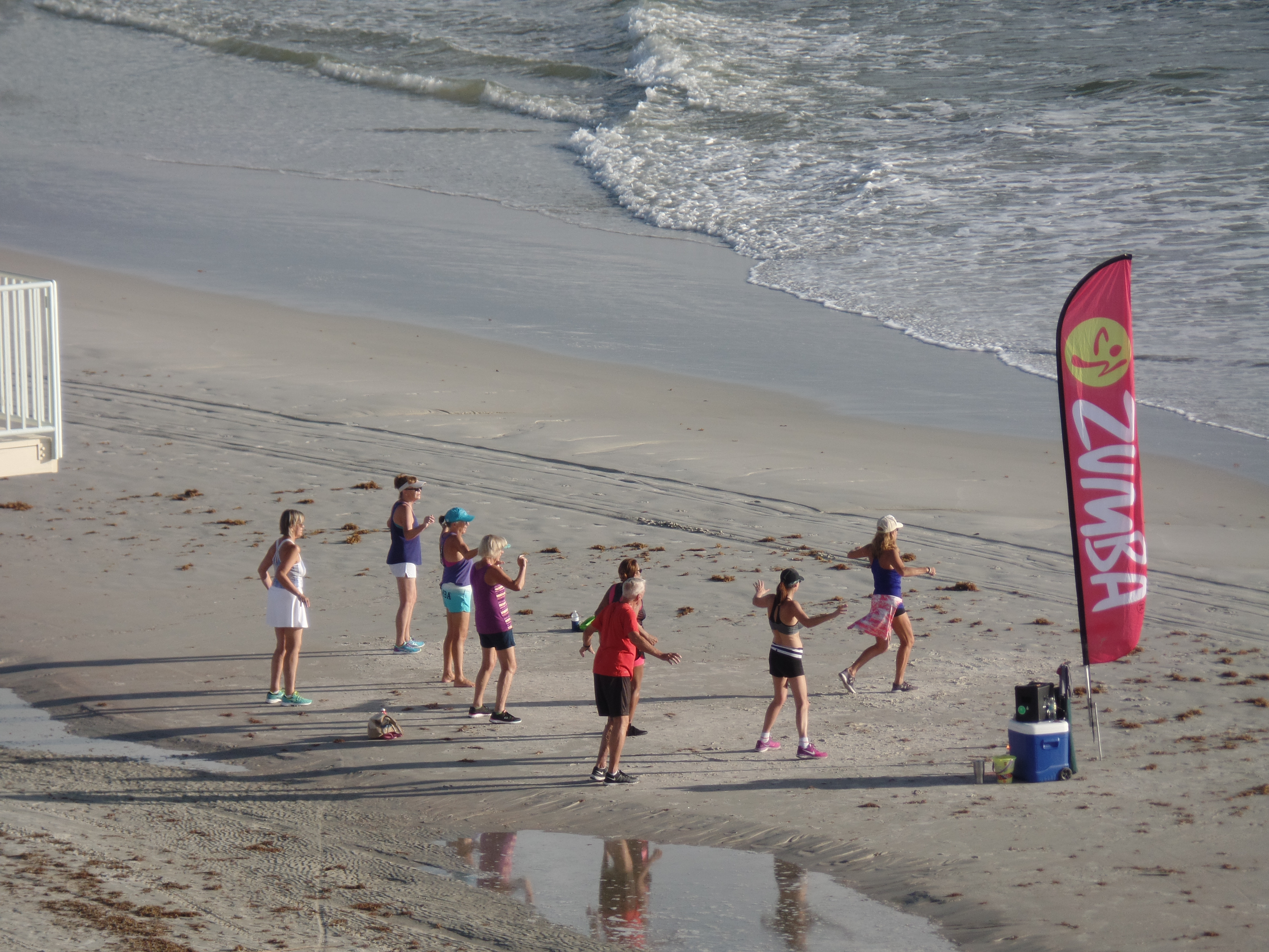 join the summer beach fun in New Smyrna Beach with exercise