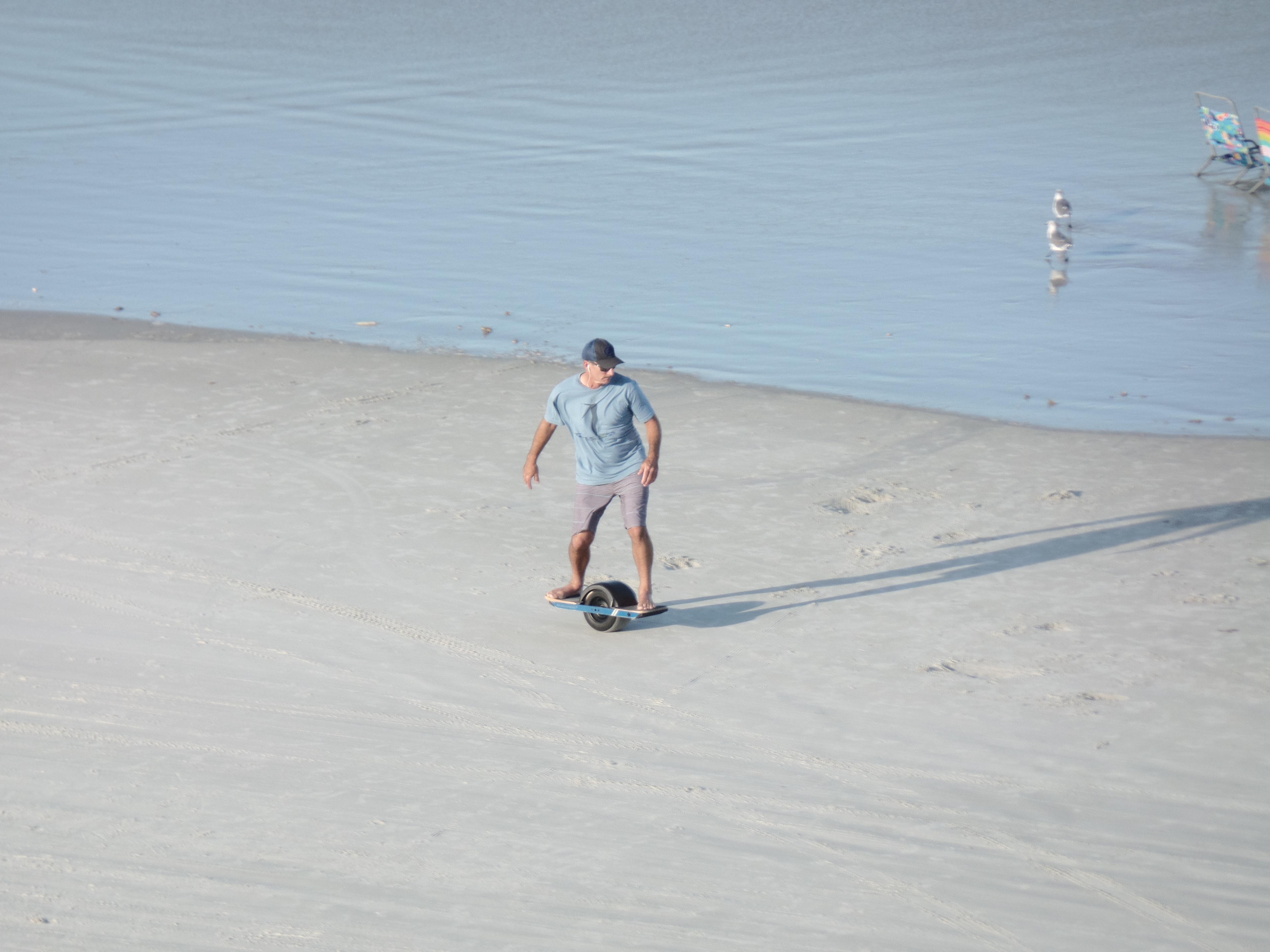 join the summer beach fun at New Smyrna Beach on a one-wheel