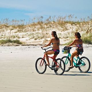 Beach Biking at New Smyrna Beach