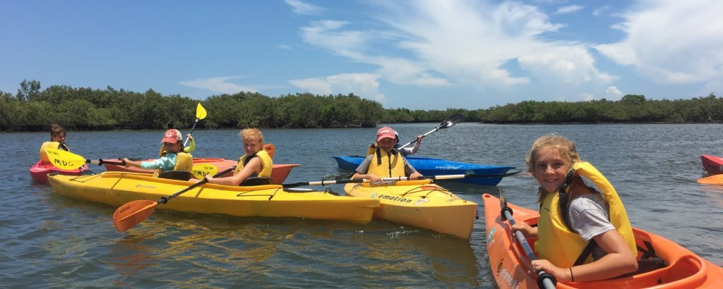 Kayaking at Marine Discovery Center in New Smyrna Beach