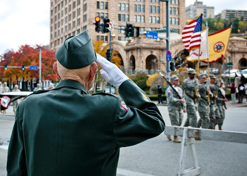 thank you veterans, from New Smyrna Beach, at veterans day parade