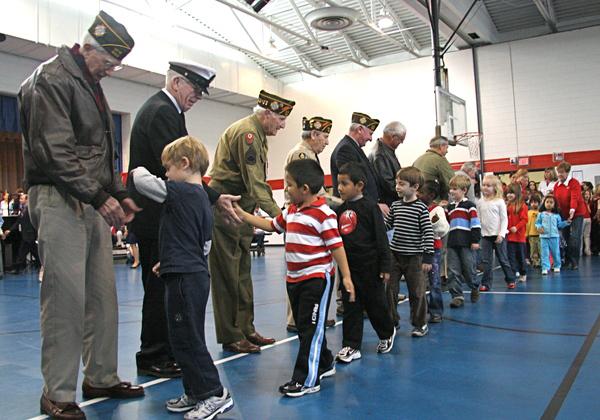 Thank you veterans, from New Smyrna Beach ,at school program
